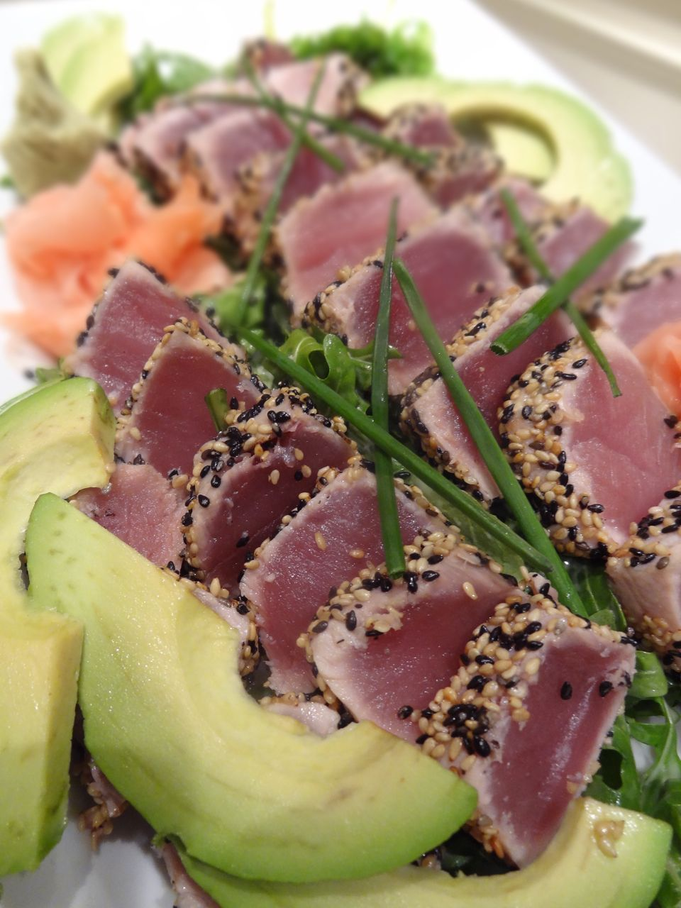 recipe: pan seared tuna with wasabi sauce [17]