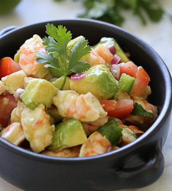 29-15 Zesty Lime Shrimp and Avocado Salad