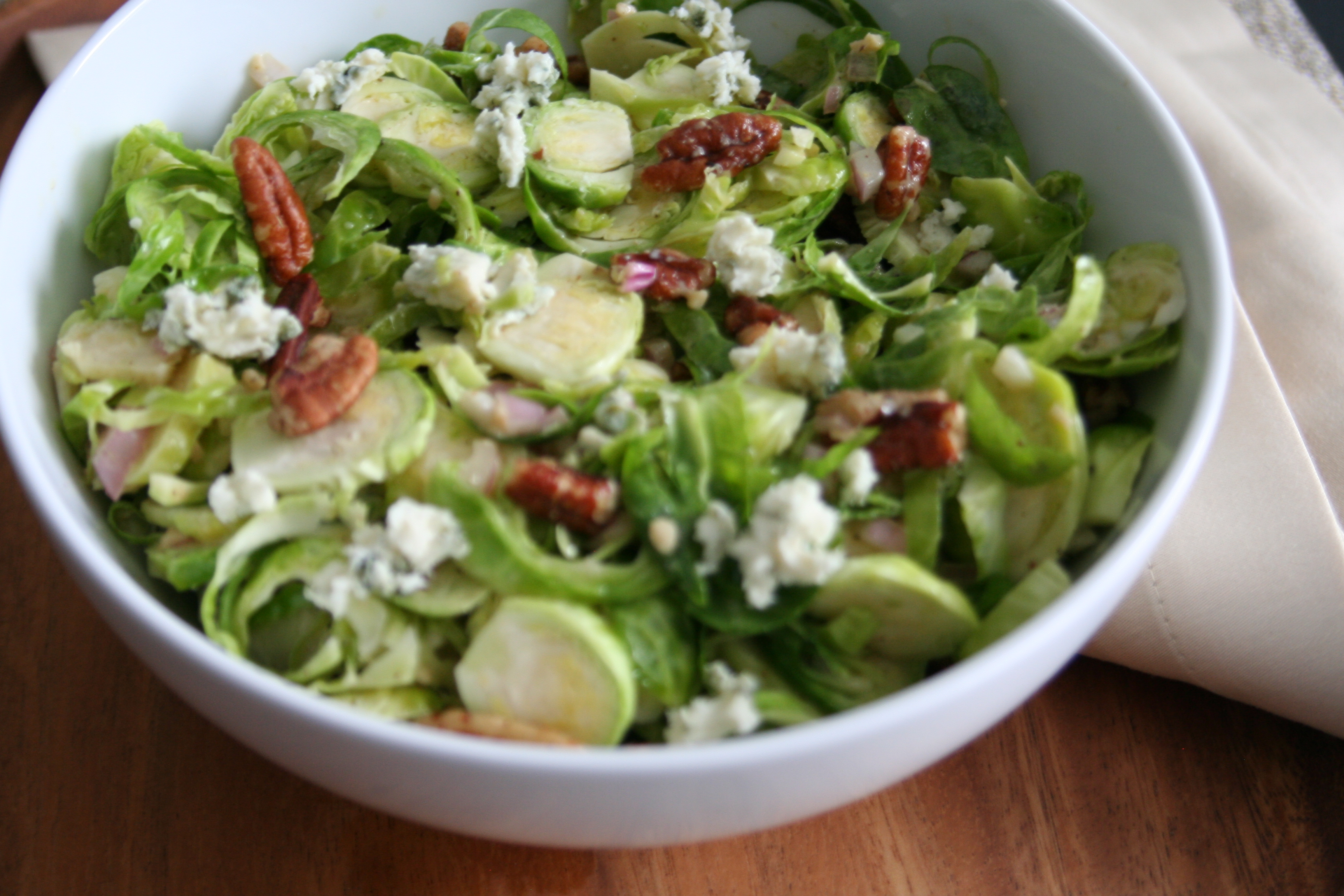 Warm Pecan and Brussels Sprouts Salad with Blue Cheese ...