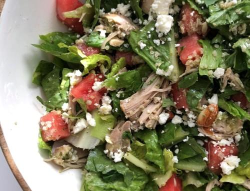 Watermelon, Quinoa and Feta Salad with Chicken